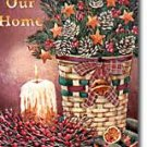 Bless Our Home Basket Winter Christmas Garden Mini Flag