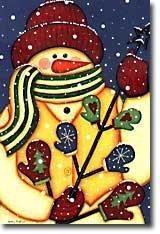 Mitten Tree Snowman Garden Mini Flag