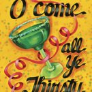 O Come all Ye Thirsty Party Christmas Large Flag
