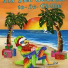 Tis the Season to be Chillin Parrot Jimmy Buffet Large Flag
