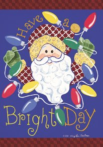 Bright Days Santa Winter Christmas Large Flag