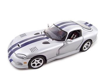 1996 Dodge Viper GTS Coupe 1:18 Diecast Model Silver DC00003