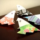 4 X ASSORTED HANDMADE ORIGAMI PARROT
