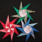 3 X ASSORTED HANDMADE ORIGAMI SPINNER