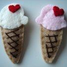 ICE CREAM HAIR CLIP - Strawberry flavour