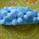 LOVELY FLOWER CLIP - blue