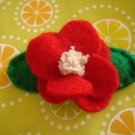 RED FLOWER HAIR CLIP