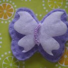 HANDMADE BUTTERFLY SNAP HAIR CLIP - purple