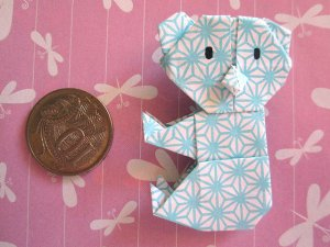 4 X ASSORTED HANDMADE ORIGAMI KOALA BEAR