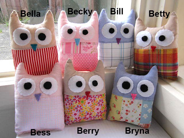 HANDMADE PLUSH OWL - BETTY