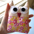 HANDMADE PLUSH OWL - BERRY