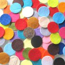 100 X MIXED COLOURS FELT CIRCLES - 3cm