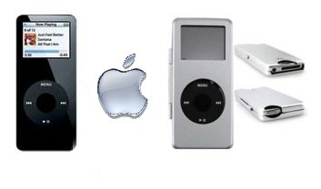 iPod Nano 4GB - Black w/ Silver Metal Case