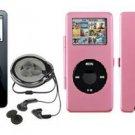 iPod Nano 1GB - Black w/ Pink Metal Case