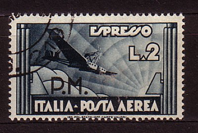 134-965 Italy Kingdoom - Military Post, Airmail Sassone 19