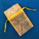 Gift Pouches - YELLOW New Pack of 12 pcs OGP003