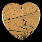 PENDANT STONE BEAD, AGATE Stone Canyon Heart  FB3259
