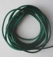 CORD, Satin - Rattail 12' 2mm HUNTER GREEN