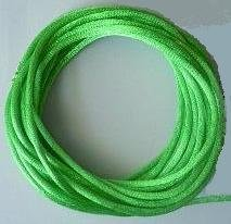 CORD, Satin - Rattail 12' 2mm MEADOW GREEN