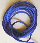 CORD, Satin - Rattail 12' 2mm ROYAL BLUE