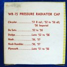 RADIATOR 7 pound Pressure Cap - Wayne WR-15 New Old Stock #2
