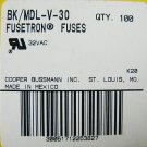 Bussmann Fusetron Time Delay Fuse MDL - V - 30  32v x 3 pcs