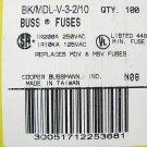 Bussmann Time Delay Fuse MDL - V - 3 2/10     250v   3  2/10a x 3 pcs