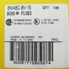Bussmann Fast Acting Ceramic Fuse ABC-BV-15 250v  15a x 3 pcs