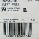 Bussmann Fast Acting Ceramic Fuse ABC-18 250v  18a x 48 pcs