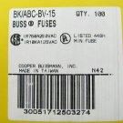 Bussmann Fast Acting Ceramic Fuse ABC-BV-15 250v  15a x 12 pcs