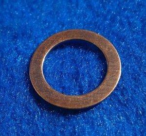 "Copper Washers - 9/16"" ID x 25/32"" OD 12 Pieces       CW9/16"""