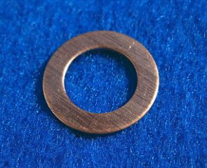 "Copper Washers - 3/8"" ID x 21/32"" OD 12 Pieces       CW3/8"""