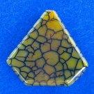 PENDANT STONE BEAD, AGATE Dragon Veins Green Arrow  FB181422