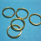 JUMP RINGS - Open 8mm Gold Tone Plate  100 Pieces   JR8gp
