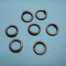 JUMP RINGS - Open 5mm Antique Copper Plate  100 Pieces   JR5acp