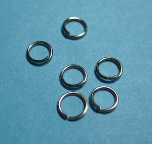 JUMP RINGS - Open 5mm Nickel Tone  100 Pieces        JR5nt