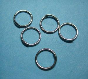 JUMP RINGS - Open 8mm Nickel Tone   50 Pieces          JR8nt
