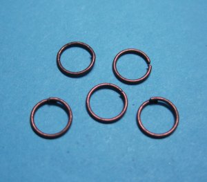 JUMP RINGS - Open 6mm Copper Tone     50 Pieces       JR6ct