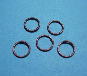 JUMP RINGS - Open 6mm Copper Tone    100 Pieces      JR6ct