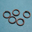 JUMP RINGS - Open 5mm Copper Tone     50 Pieces       JR5ct