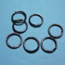 JUMP RINGS - Open 7mm Gun Metal    100 Pieces       JR7gm