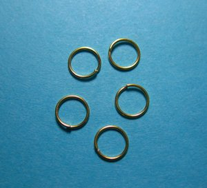 JUMP RINGS - Open 6mm Gold Tone Plate     100 Pieces    JR6gp