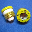 FUSES - Edison Base Plug Type W 10 amp Box of (4) EBF W10 FA