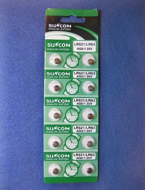 BATTERY Alkaline Button Cell LR521 AG0 LR63 1.55v (10ea)