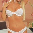 2 Piece Chiffon Bra Set with Hanging Faux Pearl Strands