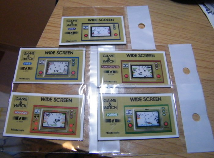5 Magnets Nintendo Game Watch Wide Screen Collection