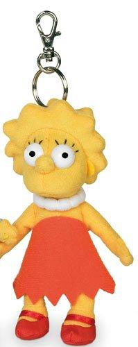 The Simpsons Lisa Plush Keyring (NEW)