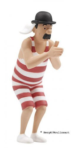 TINTIN, SCHULTZE IN SWIMSUITE ACTION FIGURE, FIGURINE (NEW)