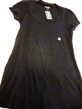 Express Sexy Basics Round Collar Tee in Black (Size M)