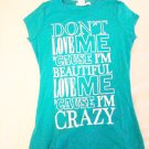 "Charlotte Russe ""Crazy"" Screen Tee (Size S)"